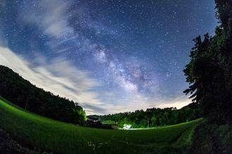 蛍と夏銀河