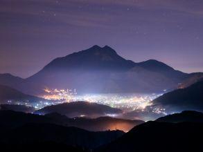 由布岳と夜の湯布院