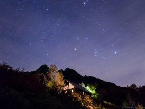 妙義山と昇るオリオン